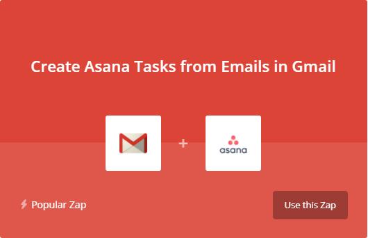 Lier Gmail et Asana avec Zapier