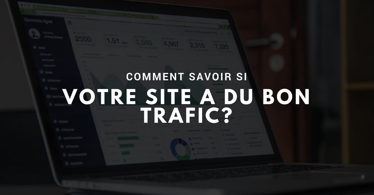 Comment savoir si votre site web a du bon trafic?
